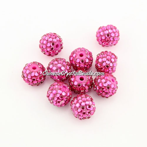 Pave disco Resin disco beads, rosaline, 10mm, 10 pcs