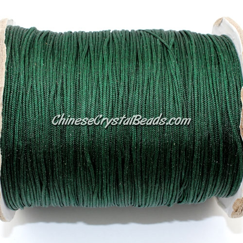 thick about 1mm, nylon string, dark emerald, (Sold by the meter)