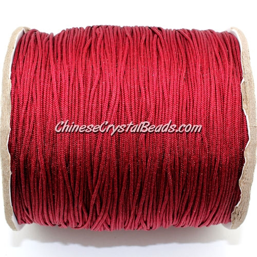 thick about 1mm, nylon string, dark red, (Sold by the meter)