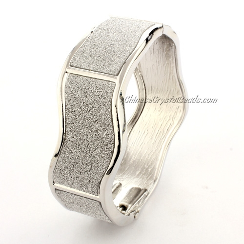Womens Hinged Bangle Bracelet, jp01, 20mm wide, Length:60mm