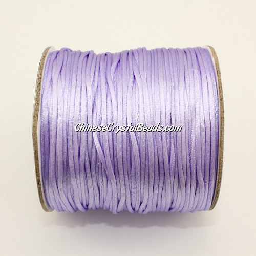 1.5mm Satin Rattail Cord thread, #43, light puple, 80Yard spool