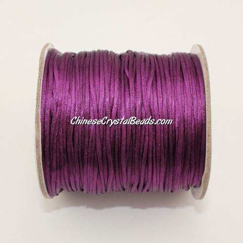 1.5mm Satin Rattail Cord thread, #42, puple, 80Yard spool