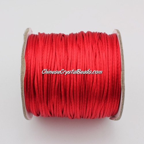 1.5mm Satin Rattail Cord thread, #30, red, 80Yard spool