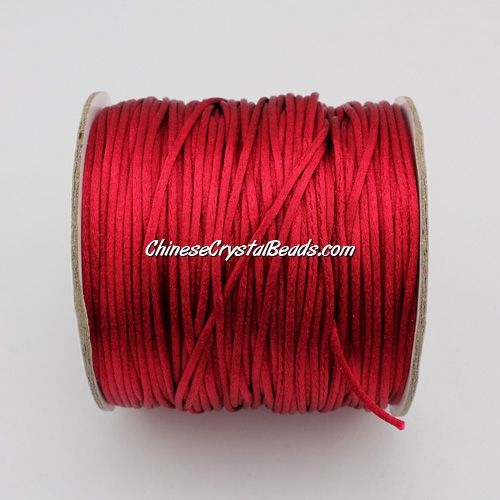 1.5mm Satin Rattail Cord thread, #29, Med. red, 80Yard spool
