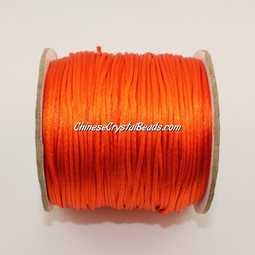 1.5mm Satin Rattail Cord thread, #18, orange, 80Yard spool