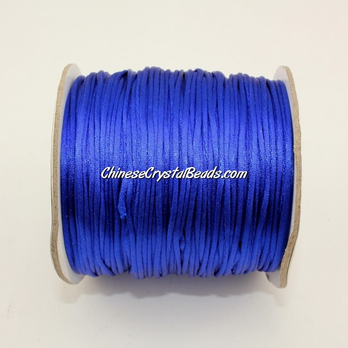 1.5mm Satin Rattail Cord thread, #12, Navy blue, 80Yard spool
