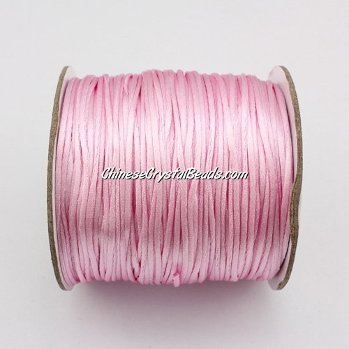 1.5mm Satin Rattail Cord thread, #37, light pink, 80Yard spool