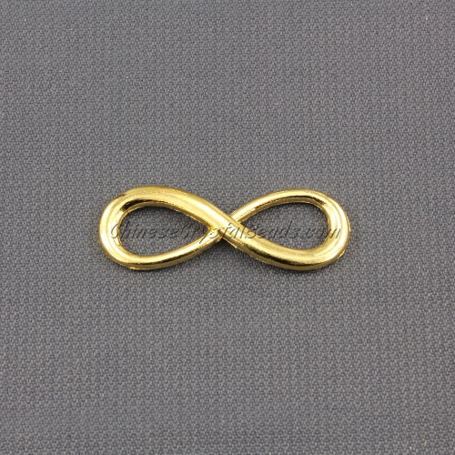 Infinity charms, 10x30mm, gold, 1 pc