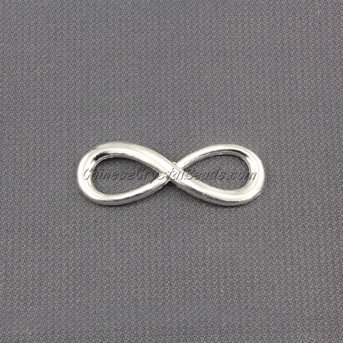 Infinity charms, 10x30mm, silver, 1 pc