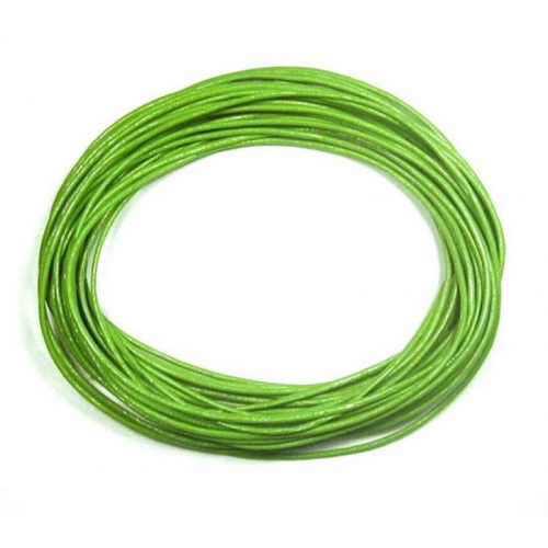 Round Leather Cord, green, (1mm, 1.5mm, 2mm)(Sold by the Meter)