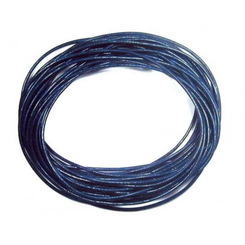 Round Leather Cord, navy, (1mm, 1.5mm, 2mm)(Sold by the Meter)