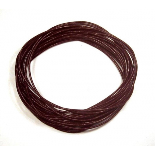Round Leather Cord, coffee, 1mm, (Sold by the Meter)