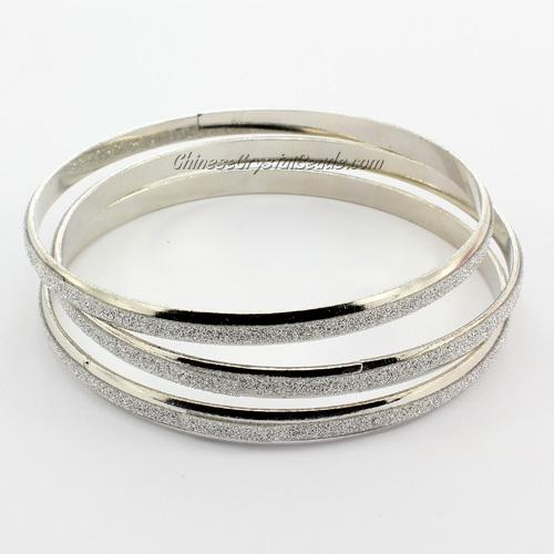 3 hoop bracelet , 5mm wide, Length:60mm