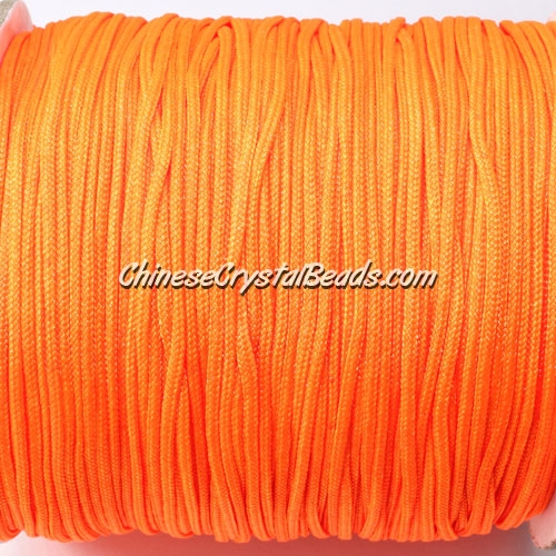 1.5mm nylon cord, orange (neon color), Pave string unite, (Sold by the meter)
