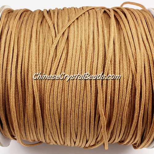 1.5mm nylon cord, khaki 2, Pave nylon cord, (Sold by the meter)