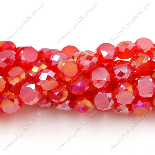 8mm Bread crystal beads long strand, lt. siam, 70pcs per strand