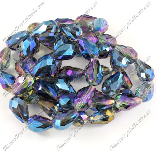 20Pcs 10x15mm Chinese Crystal Teardrop Bead strand, transparently blue light