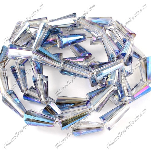 20pcs Chinese Artemis crystal beads strand, 8x15mm, #003