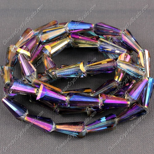 20pcs Chinese Artemis crystal beads strand, 8x15mm, #010