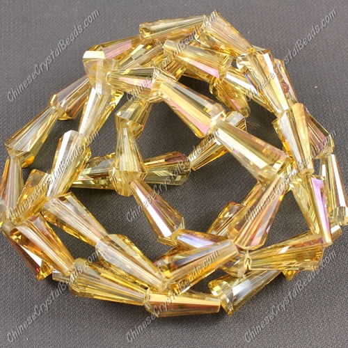 20pcs Chinese Artemis crystal beads strand, 8x15mm, #011