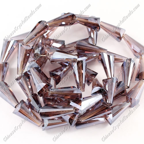 20pcs Chinese Artemis crystal beads strand, 8x15mm, Ametheyst satin