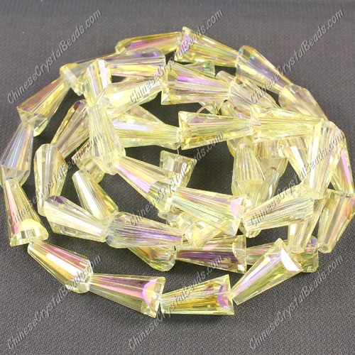 20pcs Chinese Artemis crystal beads strand, 8x15mm, citrine AB
