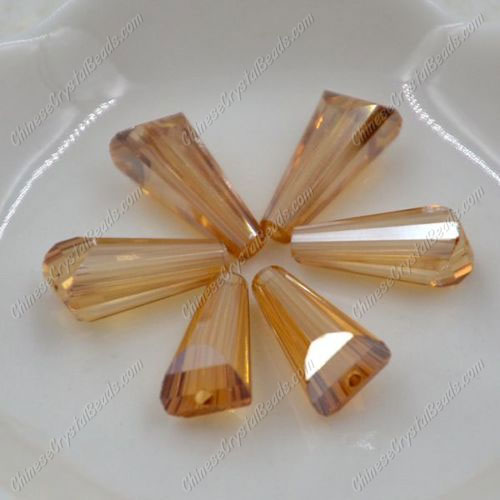 20pcs Chinese Artemis crystal beads strand, 8x15mm, golden shadow
