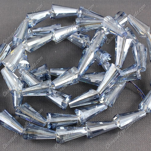 20pcs Chinese Artemis crystal beads strand, 8x15mm, Magic Blue