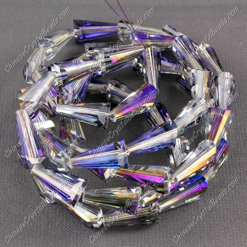 20pcs Chinese Artemis crystal beads strand, 8x15mm, purple light