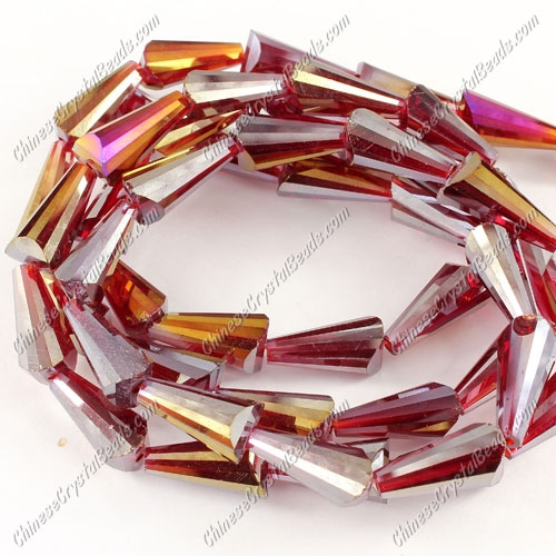 20pcs Chinese Artemis crystal beads strand, 8x15mm, siam AB