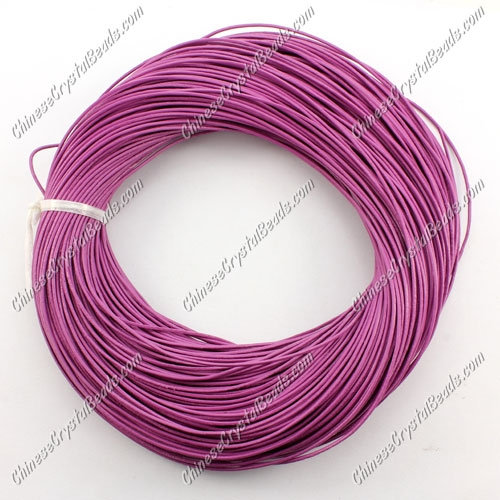 Round Leather Cord, purple,(1mm 1.5mm 2mm) (Sold by the Meter)