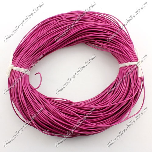 Round Leather Cord, Fuchsia ,(1mm,1.5mm,2mm) (Sold by the Meter)