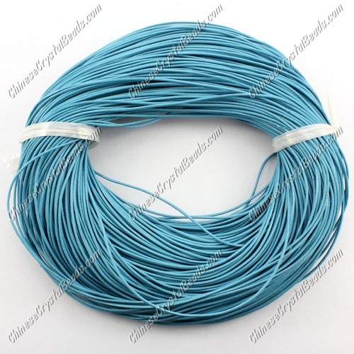 Round Leather Cord, turquoise ,(1mm, 1.5mm, 2mm) (Sold by the Meter)
