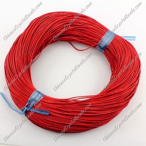 Round Leather Cord, red, (1mm,1.5mm, 2mm)(Sold by the Meter)