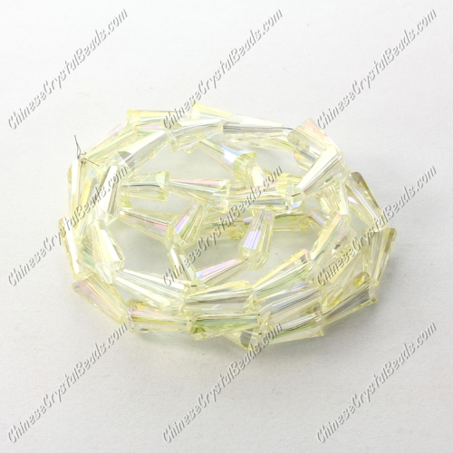 Chinese Artemis Crystal beads, 4x8mm, citrine AB, per pkg of 70pcs