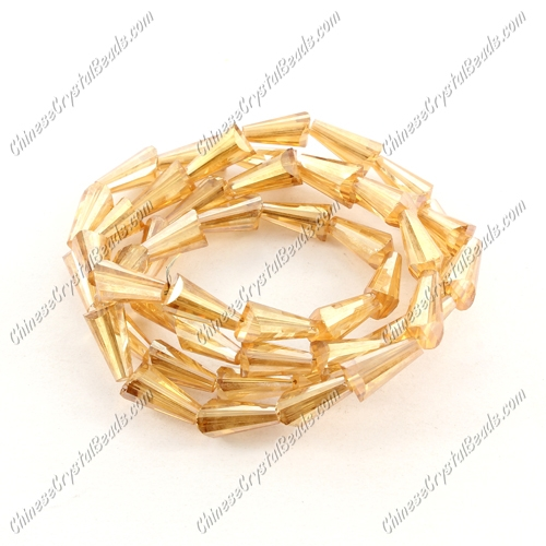 Chinese Artemis Crystal beads, 6x12mm, dark golden shodow, per pkg of 20pcs