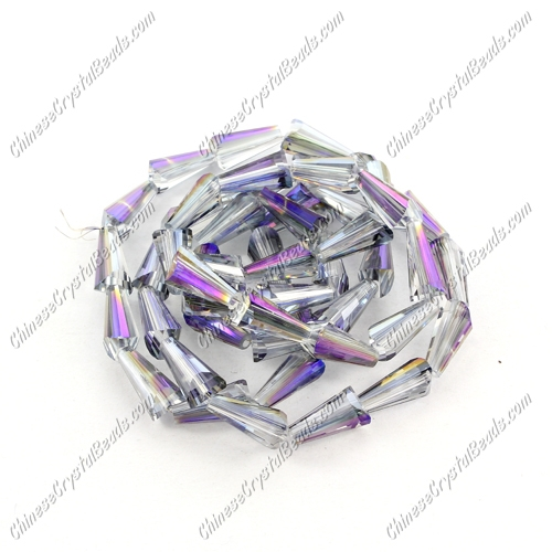 Chinese Artemis Crystal beads, 6x12mm, purple light, per pkg of 20pcs