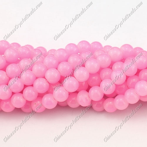 8mm round glass beads strand, pink, 100pcs per strand