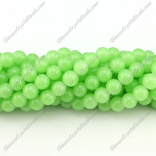 8mm round glass beads strand, green jade, 100pcs per strand