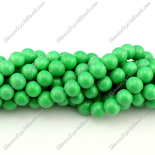 8mm round glass beads strand, Spring Green, 100pcs per strand