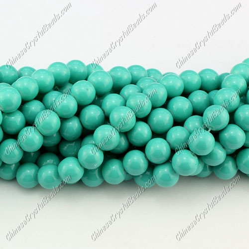 8mm round glass beads strand, Dark Turquoise, 100pcs per strand
