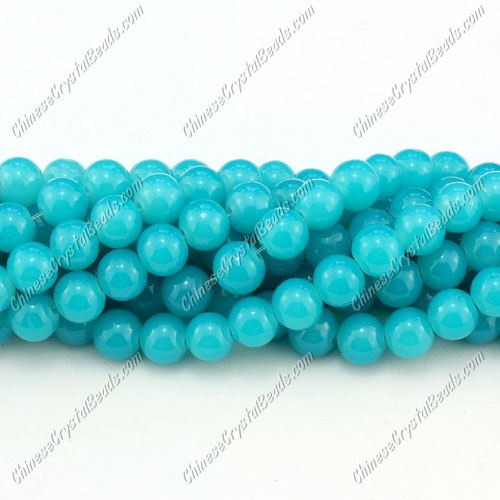 8mm round glass beads strand,Sky Blue jade, 100pcs per strand