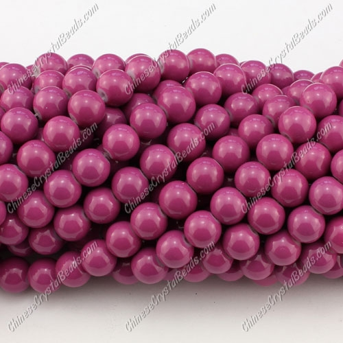 8mm round glass beads strand, Ruby, 100pcs per strand