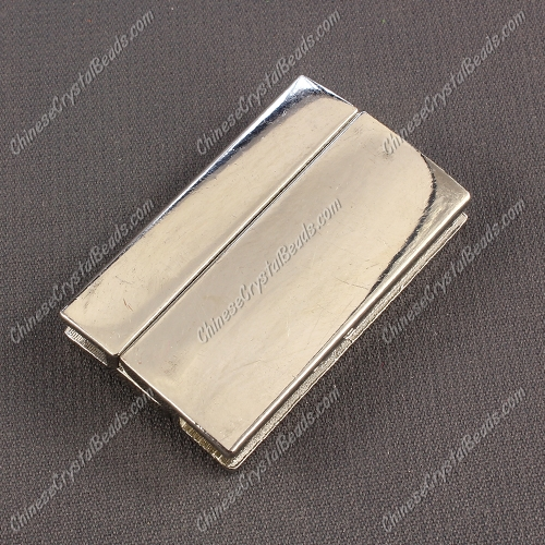 Big strong Magnetic Clasps, 7x25x40mm, silver plated Brass, sold 1 piece