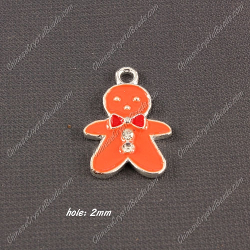 Christmas Alloy Charms pendant ,snowman,16x23mm, hole 2mm, sold 1 pcs