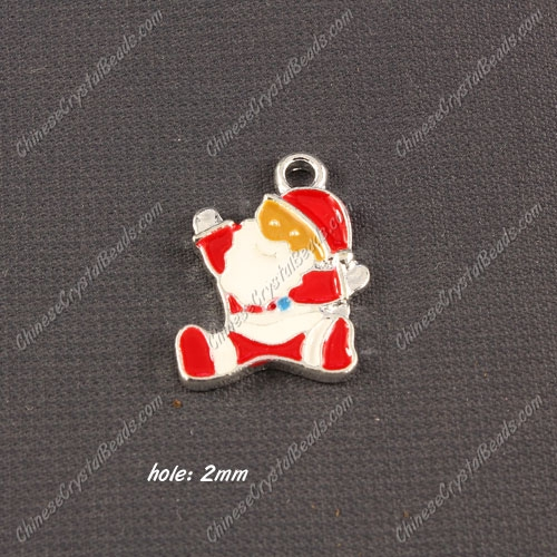Christmas Alloy Charms pendant ,Santa Claus,15x21mm, hole 2mm, sold 1 pcs