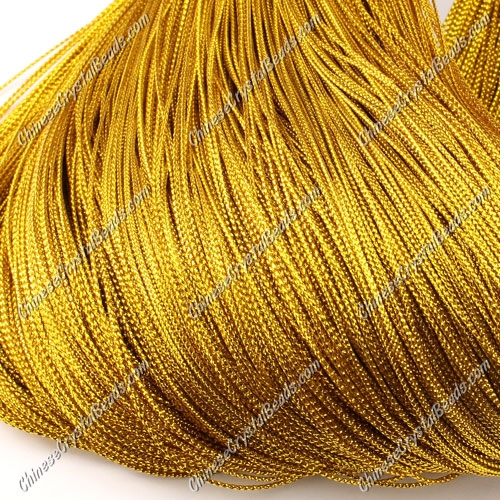 DIY Christmas Ornaments String, gold, 1mm, sold 100 meter