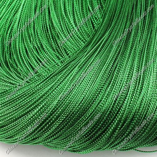 DIY Christmas Ornaments String, green, 1mm, sold 100 meter