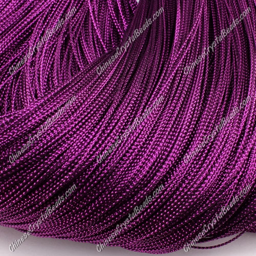 DIY Christmas Ornaments String, purple, 1mm, sold 100 meter