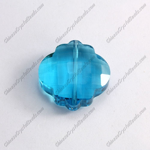 crystal lantern pendant, 25mm, aqua, sold 1 pcs